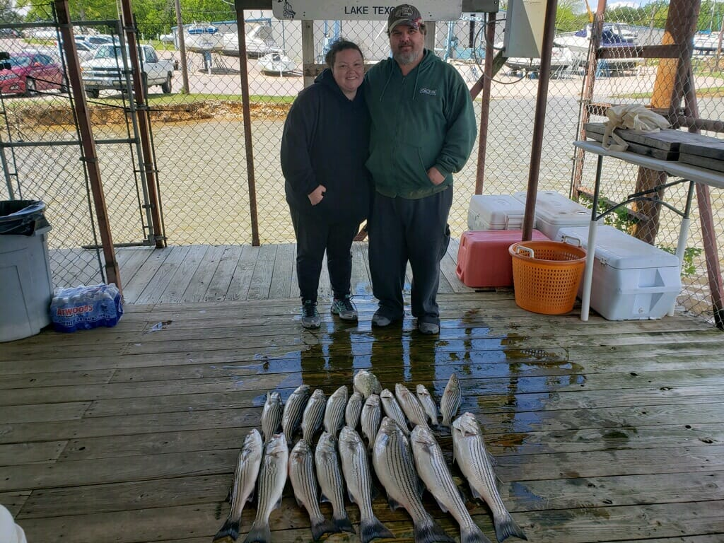 Lake Texoma Striper Fishing